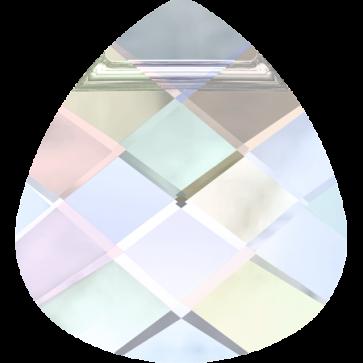 Pandantiv Swarovski 6012 FLAT BRIOLETTE Crystal AB (001 AB) 15,4 x 14,0 mm