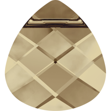 Pandantiv Swarovski 6012 FLAT BRIOLETTE Crystal Golden Shadow (001 GSHA) 15,4 x 14,0 mm