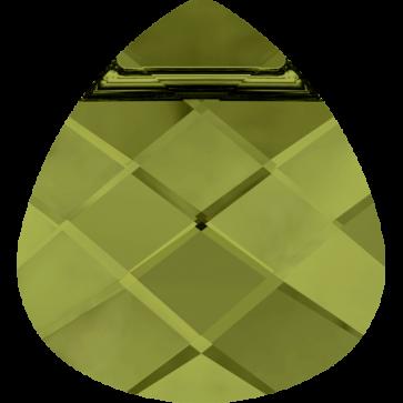 Pandantiv Swarovski 6012 FLAT BRIOLETTE Olivine (228) 11,0 x 10,0 mm