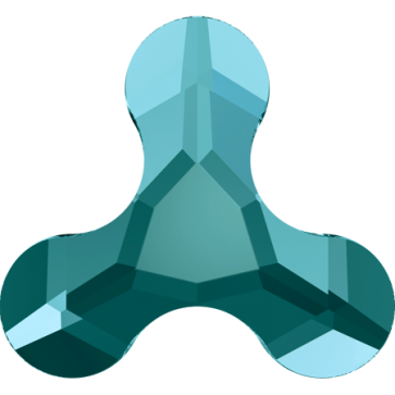 Cristale Swarovski cu spate plat si lipire la cald 2708 Blue Zircon M HF (229) 8 x 8,7 mm