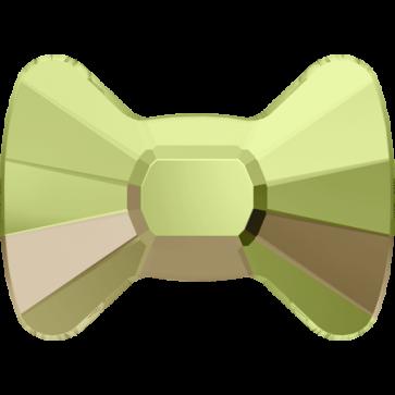 Cristale Swarovski cu spate plat No Hotfix 2858 Crystal Luminous Green F (001 LUMG) 9 x 6,5 mm