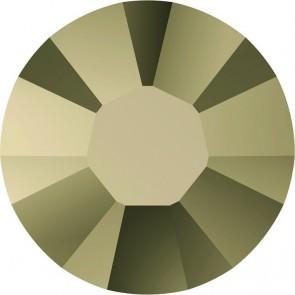 Cristale Swarovski cu spate plat si lipire la cald 2000 Crystal Metallic Light Gold A HF (001 MLGLD) SS 3