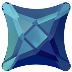 Cristale Swarovski cu spate plat No Hotfix 2494 Crystal Bermuda Blue F (001 BB) 10 mm