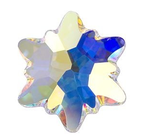 Cristale Swarovski cu spate plat si lipire la cald 2753 Crystal AB M HF (001 AB) 14 mm - Floare de Colt