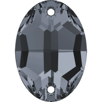Cristale Swarovski De Cusut 3210 Crystal Silver Night (001 SINI) 10 x 7 mm