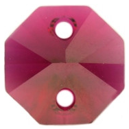 Pandantiv Swarovski 6404 OCTAGON PENDANT Ruby (539) 14 mm