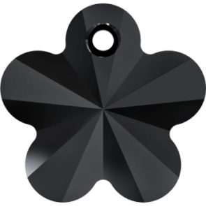 Pandantiv Swarovski 6744 Flower Pendant Jet 14 mm - Floare