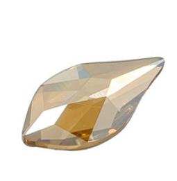 Cristale Swarovski cu spate plat si lipire la rece 2205 Crystal Golden Shadow F (001 GSHA) 10 mm