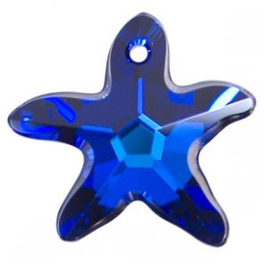 Pandantiv Swarovski 6721 STARFISH PENDANT Crystal Bermuda Blue P (001 BB) 20 mm