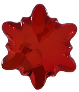 Cristal Swarovski cu spate plat No Hotfix 2753 Light Siam F (227) 14 mm - Floare de Colt