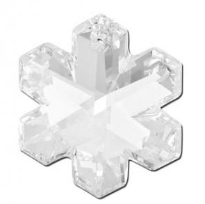 Pandantiv Swarovski 6704 SNOWFLAKE Crystal (001) 35 mm - Fulg de Nea