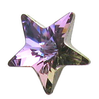 Cristale Swarovski 4745 Rivoli Star Fancy Stone Crystal Vitrail Light 5 mm