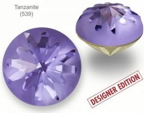 Swarovski Round Stone 1695 Sea Urchin Round Stone PF Tanzanite 10 mm - Designer Edition Celine Cousteau
