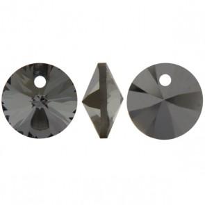 Pandantiv Swarovski 6428 XILION PENDANT Crystal Silver Night (001 SINI) 8 mm