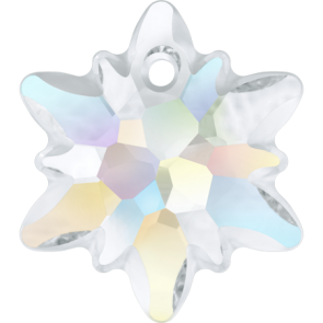 Pandantiv Swarovski 6748/G EDELWEISS PENDANT PF Crystal AB (001 AB) 28 mm