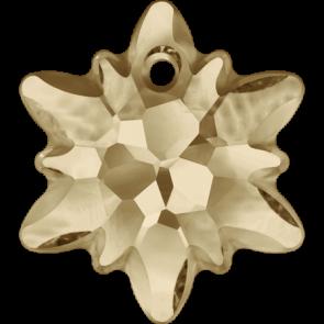 Pandantiv Swarovski 6748/G EDELWEISS PENDANT PF Crystal Golden Shadow (001 GSHA) 28 mm