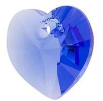 Pandantiv Swarovski 6228 XILION HEART PENDANT Sapphire (206) 14,4 x 14 mm - Inimioara