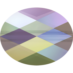 Margele Swarovski 5051 Crystal Paradise Shine (001 PARSH) 8 x 6 mm