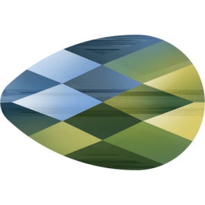 Margele Swarovski 5056 Crystal Iridescent Green (001 IRIG) 10 x 6 mm