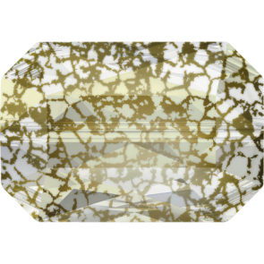 Margele Swarovski 5515 Crystal Gold Patina (001 GOLPA) 18 x 12,5 mm