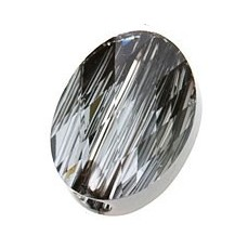 Margele Swarovski 5051 Crystal Silver Night (001 SINI) 10 x 8 mm - Mini Oval Bead