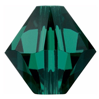 Margele Swarovski 5328 Emerald (205) 6 mm