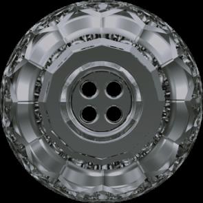 Nasturi Swarovski 3008 Crystal Silver Night (001 SINI) 18 mm