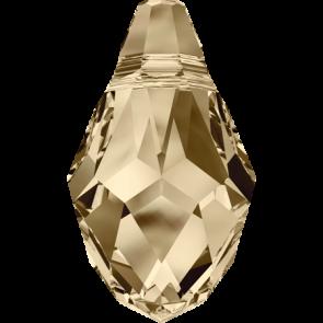 Pandantiv Swarovski 6007 SMALL BRIOLETTE Crystal Golden Shadow 9,0 x 5,0 mm