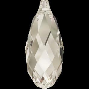 Pandantiv Swarovski 6010 BRIOLETTE PENDANT Crystal Silver Shade (001 SSHA) 17,0 x 8,5 mm