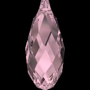 Pandantiv Swarovski 6010 BRIOLETTE PENDANT Crystal Antique Pink (001 ANTP) 11,0 x 5,5 mm