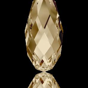 Pandantiv Swarovski 6010 BRIOLETTE PENDANT Crystal Golden Shadow (001 GSHA) 17,0 x 8,5 mm