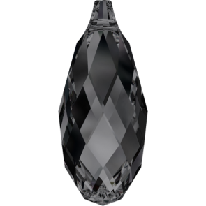 Pandantiv Swarovski 6010 BRIOLETTE PENDANT Crystal Silver Night (001 SINI) 11,0 x 5,5 mm