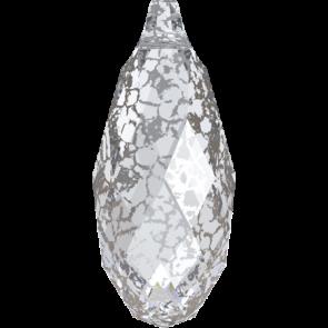 Pandantiv Swarovski 6010 BRIOLETTE PENDANT Crystal Silver Patina (001 SILPA) 17,0 x 8,5 mm
