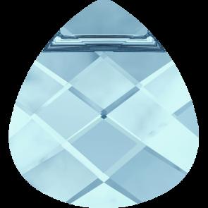 Pandantiv Swarovski 6012 FLAT BRIOLETTE Aquamarine (202) 11,0 x 10,0 mm