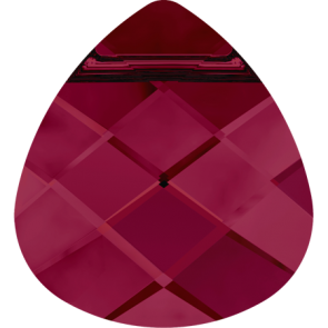Pandantiv Swarovski 6012 FLAT BRIOLETTE Ruby (501) 11,0 x 10,0 mm