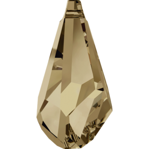 Pandantiv Swarovski 6015 POLYGON DROP Crystal Golden Shadow (001 GSHA) 17 mm