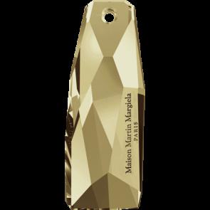Pandantiv Swarovski 6018/G THE PETITE CRYSTALACTITE Crystal Golden Shadow 'V' (001 GSHAV) 35 mm