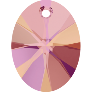 Pandantiv Swarovski 6028 XILION OVAL PENDANT Crystal Astral Pink (001 API) 10 mm