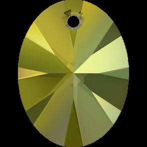 Pandantiv Swarovski 6028 XILION OVAL PENDANT Crystal Iridescent Green (001 IRIG) 8 mm