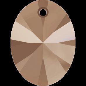 Pandantiv Swarovski 6028 XILION OVAL PENDANT Crystal Rose Gold (001 ROGL) 8 mm