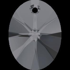 Pandantiv Swarovski 6028 XILION OVAL PENDANT Crystal Silver Night (001 SINI) 8 mm