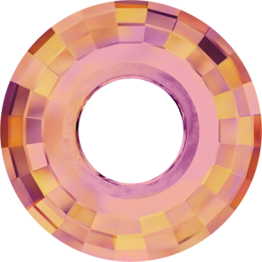 Pandantiv Swarovski 6039 DISK PENDANT Crystal Astral Pink (001 API) 25 mm
