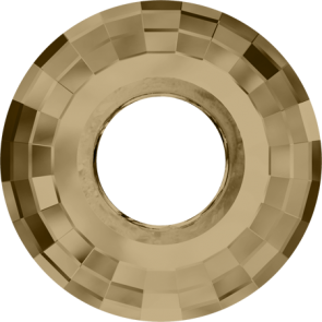Pandantiv Swarovski 6039 DISK PENDANT Crystal Golden Shadow (001 GSHA) 38 mm