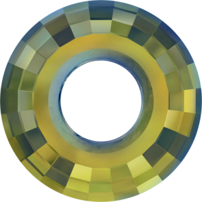 Pandantiv Swarovski 6039 DISK PENDANT Crystal Iridescent Green (001 IRIG) 25 mm