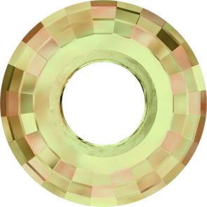 Pandantiv Swarovski 6039 DISK PENDANT Crystal Luminous Green (001 LUMG) 38 mm
