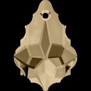 Pandantiv Swarovski 6090 BAROQUE PENDANT Crystal Golden Shadow (001 GSHA) 16,0 x 11,0 mm