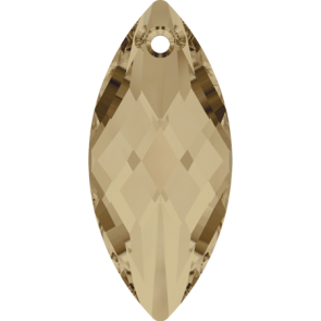 Pandantiv Swarovski 6110 NAVETTE PENDANT Crystal Golden Shadow (001 GSHA) 40 x 18 mm
