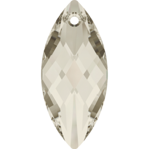 Pandantiv Swarovski 6110 NAVETTE PENDANT Crystal Silver Shade (001 SSHA) 40 x 18 mm