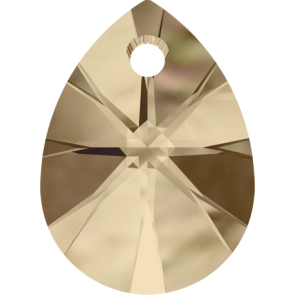 Pandantiv Swarovski 6128 XILION MINI PEAR PENDANT Crystal Golden Shadow (001 GSHA) 8 mm