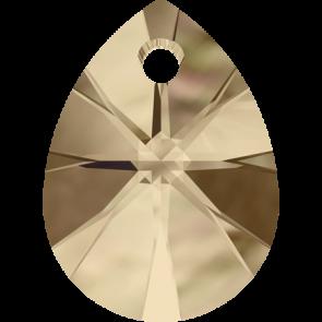 Pandantiv Swarovski 6128 XILION MINI PEAR PENDANT Crystal Golden Shadow (001 GSHA) 10 mm